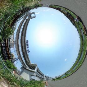 首都高速横浜環状北線の第三京浜港北IC付近。かなり完成に近づいている。 #theta360