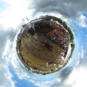 #Grossefehn Open Air Festival am 11.08.2018 Mitten auf Platz #theta360 #theta360de