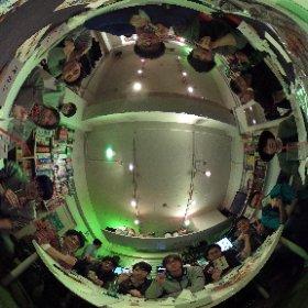 参加者15人で盛り上がりました!360°カメラで記念撮影!#日曜人狼
