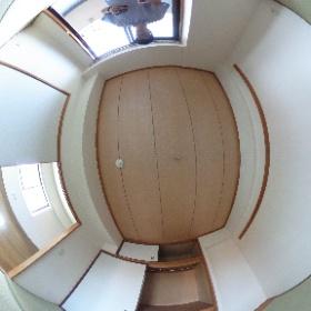世田谷区玉堤にあります「ヴィラフィオーレ」2SLDKの和室パノラマ写真です。ご夫婦の寝室として。物件詳細はこちらhttp://www.futabafudousan.com/bukken/g/syousai/561dat.html #theta360