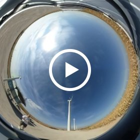 Grrey County Wind Farm near Montezuma, Kansas, September 16, 2017. #theta360