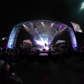 CHRISTMAS LIVE: X Factor winner and comeback kid James Arthur on stage in front of 15,000 pop fans at Meadowhall's Christmas Live festive concert in Sheffield Nov 3, 2016. #theta360 #theta360uk