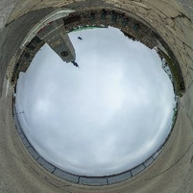 Looking into the war memorial at Stanley, Falkland Islands. #theta360