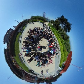 Visiting the Golden Gate Bridge with Google Code-in winners students, parents and mentors #theta360