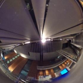#RICOH #THETA で夜の #日本科学未来館 をパシャリ。#thetafan #theta360