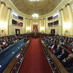 Inaguración de SEKMUN en el Senado de España