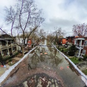 Rue Cousineau à Cartierville #inondations2017 #theta360 #theta360fr