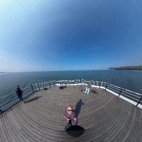 360 view from the end of the pier at Saltburn #360photography #theta360 #theta360uk