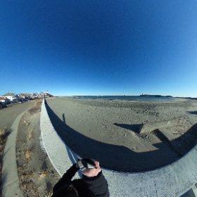 Yirrell Beach, Winthrop,  Massachusetts.  #sylviaplath #theta360