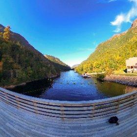 Barrage des érables au parc des Hautes-Gorges de la rivière Malbaie #theta360 #theta360fr