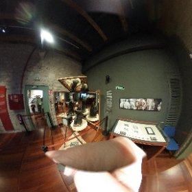 a century old setup of a stereoscope camera caption, cfr 360 degrees camera taken at Gaudi exhibition Center #theta360
