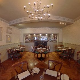 The Dining Room, Grassington House. An award-winning restaurant with rooms in the heart of the Yorkshire Dales. #restaurant #rooms #hotel #grassington #yorkshiredales #thedales #theta360 #theta360uk