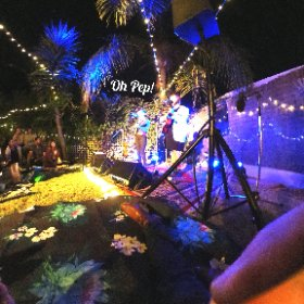 .@OhPep! at a back yard gig in Bayswater, Perth. Great music & great company @rubyshoesinoz. #theta360