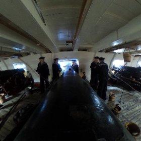 Danish frigate Jylland, at the canon deck. #theta360