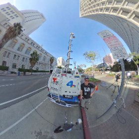 Live from City Hall in DTLA. #theta360