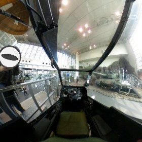 THETA使って展示対戦車ヘリのコックピットから撮影。petaly360から移した。 #theta360