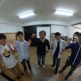 日本写真映像専門学校での今期の授業スタートです。熱心な生徒さんいっぱいで責任重大やあ! #theta360