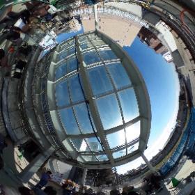 工事中の下北沢駅舎2階南西側中央からの眺望(2018年11月3日撮影)