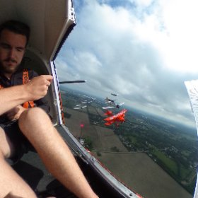 Tora Tora Tora and Sean D. Tucker at the Vectren Dayton Air Show #theta360