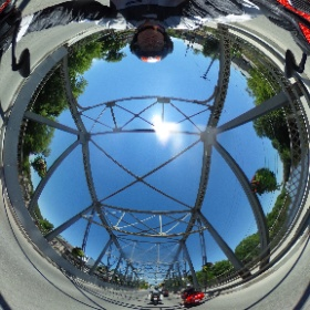 Elora Ontario on the bridge on 2 wheels #theta360