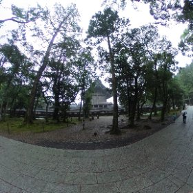 出雲大社 本殿を裏(北側)から。背後にも社。 #theta360