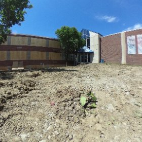 Lots of progress in a short amount of time. Making way for a new entrance and Academic Center @OmahaMarian  #theta360