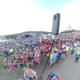 Opening ceremony of WSJ2019 #theta360