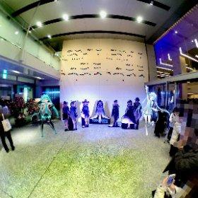 「今日はミクと雪ミクちゃんも出演して大成功だったよ!」  …出演後にだいぶお痩せになられて…(´・ω・`)   #ミクシンフォ大阪 #初音ミクシンフォニー #miku360 #theta360