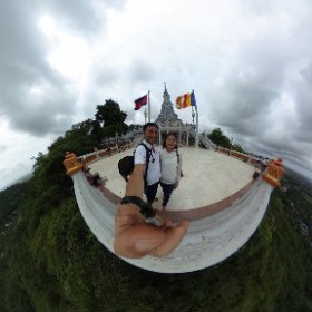 THETAed at Mt. Oudong with Prof. Kimsreang. #theta360