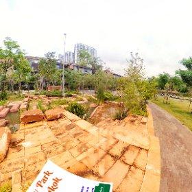 Chulalongkorn Centenary Park in Siam, lake, cafe study area  https://thaibis.family/BkkCentenaryPark BEST HASHTAGS #ChulalongkornUniversityCentenaryPark #butterfly3d #theta360