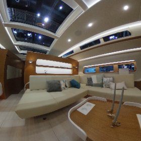 New sailing yacht Hanse 675 on international boat show boot 2018 in Duesseldorf. 360 degree video. Ein 360-Grad-Video aus dem Cockpit der neuen Hanse 675, nach Werftangaben derzeit die größte deutsche Serienyacht. #theta360 #theta360de