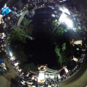 2015.8.29 「冨木八朔祭礼」神社に次々に宮入りするキリコ