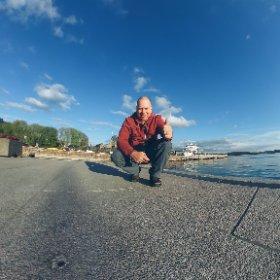 Pano-selfie in Oslo, Norway #theta360 #theta360fr