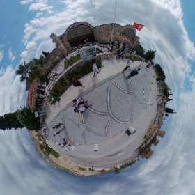 at the entry of the Pamukalle Park in Turkey. #theta360
