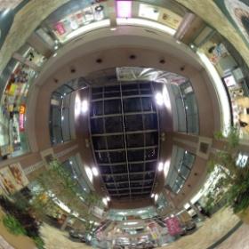 #RICOH #THETA #全天球写真 阪急伊丹駅3階 吹き抜け