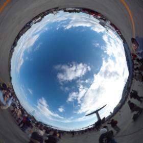 #ブルーインパルス によるバーティカルクライムロール!大迫力だった!*\(^o^)/* #入間航空祭 #RICOH #THETA  #theta360