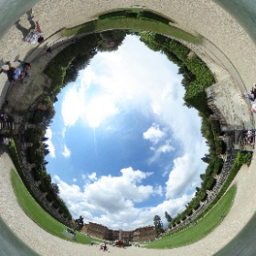 Meridiana Terrace, Boboli Gardens in 360° #visitFlorence #theta360