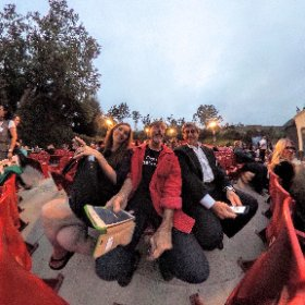 Waiting for the curtain to rise #FestivalPageant #theta360