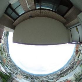 長野市のマンション、ダイアパレス長野メダリオン、ベランダからの眺望 #theta360