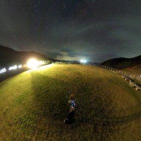 野崎島の星空の360度パノラマ画像です。夜空に星がたくさんみえますよ。画像をタッチしてみてきださい。 #小値賀島 #野崎島 #星空