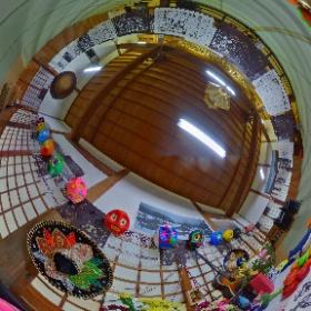 福井市 浄善寺でのインスタレーション #theta360
