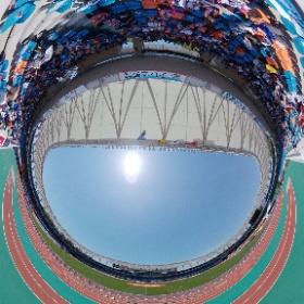 V.ファーレン長崎のトランスコスモスタジアム長崎からスタジアムシータ! 今から観戦です。 #nagasaki #isahaya #jリーグ  #スタジアムシータ #theta360