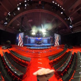 Stage is set for tonight's VP debate in FarmVille, VA. Here's a 360 view of the debate hall: