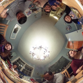 Thanksgiving at the Abrahams!! #theta360