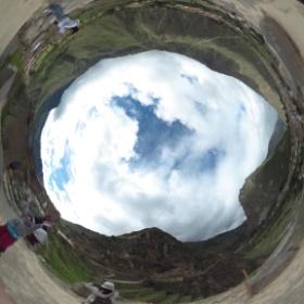 オリャンタイタンボ遺跡・ここは写真で見たときは、へー( ´_ゝ`)って感じだったけど、本当にすごかった。 #theta360