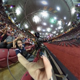 Filming at the Mariucci Arena