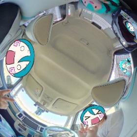 ミクキャンバス乗ったら一番やりたかったことができた\(^o^)/ミクシータで撮影♪ #ミクキャンバス #miku360 #theta360