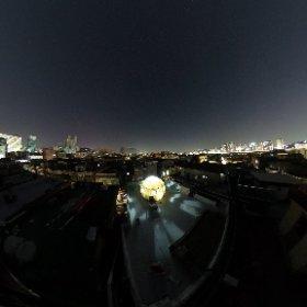 옥상 돔하우스 야경 #theta360