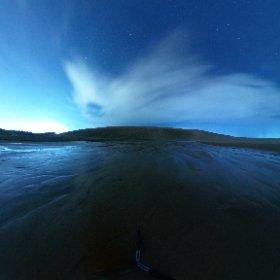 今日の360度! 夜の砂丘編 #砂丘 #鳥取 #オアシス #oasis #tottori #sakyu #夜景 #星取県 #theta360