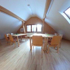 """Einer der beiden oberen Räume im Mehrzweckgebäude """"Wander- und Bikestation"""" auf dem Gelände des Naturschutzzentrum Erzgebirge. #theta360 #theta360de"""